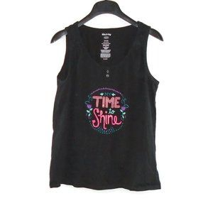 My Time To Shine Tank Top M White Stag Black